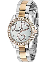 ROKCY Forest Swiss Style Dual Tone Butterfly Dial Watch For Girls & Women_(Dual Tome White Dial)