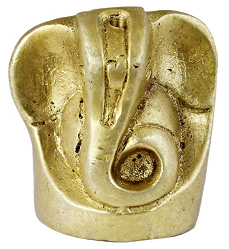 Lord Ganesha Idol Brass Statue - Hindu God Sculpture Indian God Idols for Dashboard - Diwali Gift  available at amazon for Rs.276