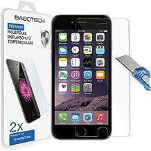 2 x Apple iPhone 6 / 6s - BABOTECH 3D-Touch Panzerglas 9H Hartglas Kratzfest Schutzfolie Tempered Glass (bewusst kleiner als das Display, da dieses gewölbt ist)