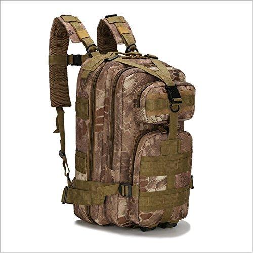Zaino tattico, zaino militare multifunzione per outdoor trekking campeggio escursionismo caccia–�?0l, jungle python lines jungle python lines