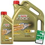 1l + 5l = 6litros Castrol Edge Titanium fsttm 5W de 30C3Motor de aceite motores de aceite