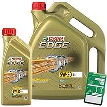 Castrol Edge Titanium FSTTM 5W-30 C3 - 31789267 - Aceite para motor, 6 litros (1 litro + 5 litros)