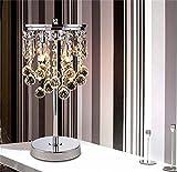 TOYM- Kreative Mode K9 Kristall Tischlampe Moderne Hochzeits-Dekoration Chinese Schlafzimmer Nacht Wohnzimmer Lampe (Farbe : Kleine)