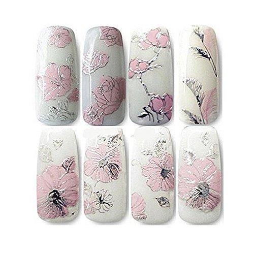 TOOGOO 1 Feuilles Autocollants 3D pour les ongles Autocollant floral pour le design d'art des ongles onception Autocollants a ongles belle et a la mode Accessoires pour la decoration des ongles