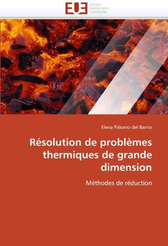 Résolution de problèmes thermiques de grande dimension