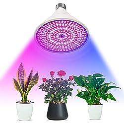 Amstt 290 LEDs Pflanzenlicht E27 Fassung 8W für Pflanzen Gewächshaus Beleuchtung Pflanzenbeleuchtung Blumenlampe Zimmerpflanzen Blumen und Gemüse