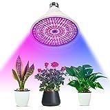 Amstt 290 LEDs Pflanzenlicht E27 Fassung - 8W Pflanzenlampe Grow Lampe - Licht für Pflanzen Gewächshaus Beleuchtung - Pflanzenbeleuchtung Blumenlampe für Zimmerpflanzen, Blumen und Gemüse