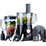 NETTA Food Processor 750W - Multi Use Mixer with Many Different Blade Attachments – 1.8L Water Jug and 2L Mixing Bowl Included.