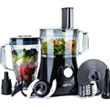 NETTA Food Processor, Smoothie Blenders Maker Mixer, Juicer Grinder with 1.8L Water Jug & 2L Mixing Bowl - 750W Black