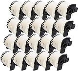 Compatible DK22205 Continuous White Standard Address Labels for Brother QL-500, QL-550, QL-560, QL-570, QL-580N, QL-650TD, QL-700, QL-720NW, QL-1050, QL-1060N Label Printers (62mm x 30.48m)