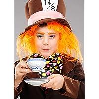 Magic Box Peluca para Sombrerero Loco Naranja para niños