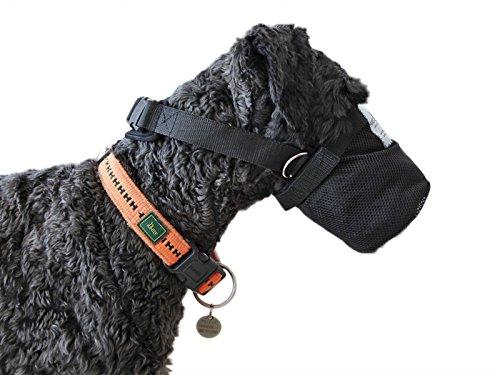 Giftköderschutz/Netzmaulkorb / Leckschutz bei Wunden/Sicherheitsnetz für Hunde aus Neopren Lange Ausführung (XS)