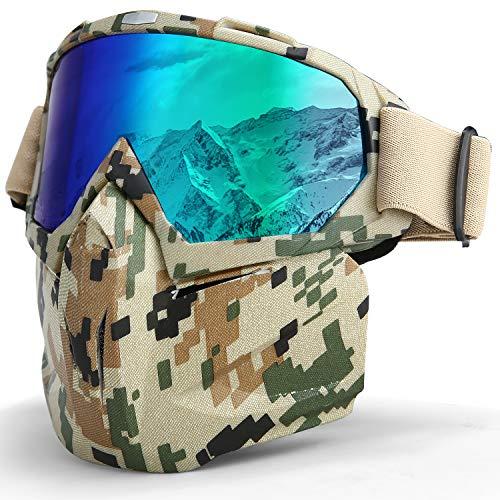 LAMEDA Motorrad Maske Brille Herren Motorrad Goggle Gesichtsmaske Schutzmaske männer Schutzbrille Skibrille Für Motorrad Ski Snowboard Brille Motorradbrillen UV-Schutz (Männer-ski-schutzbrillen)