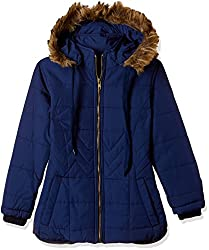 Fort Collins Girls Regular Fit Jacket (r1087_Navy_26 (6 - 7 years))