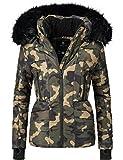 Navahoo Damen Winter Jacke Steppjacke Adele (vegan hergestellt) Camouflage Gr. M Vergleich