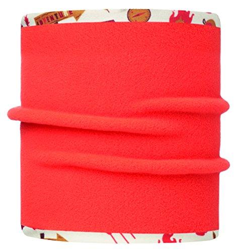BUFF REVERSIBLE pour ENFANTS, Écharpe Multifonctionnel avec doublure en toison, Polyester, taille 2-4 Aventure, creme/orange