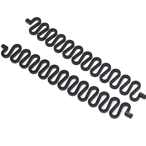 Pinzhi 2 x Negro Trenzador de Pelo Herramienta de Bricolaje Trenzadora Accesorio Práctico para Trenzar Cabello (19.2cm)
