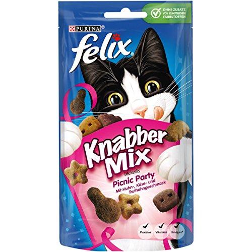 Felix Knabbermix Katzensnack Picnic Party, 8er Pack (8 x 60 g)