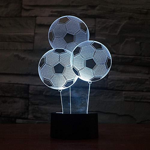 kssimBallon Fußball 3D LED Nachtlicht Neon 7 Farbe allmählich ändern, um Freunde und Kinder Weihnachtsgeschenke energiesparende grüne lights_t1 zu senden