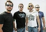 Nickelback 22 A3-Poster mit allen Bandmitgliedern Chad Kroeger, Ryan Peake, Mike Kroeger und Daniel Adair, einzigartiges