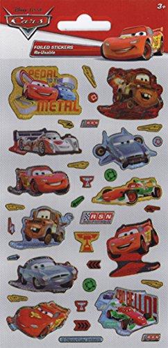 Disney Pixar Cars Pack De Autocollants Reutilisables Dejoues