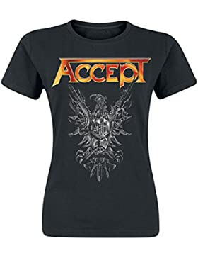 Accept Rise Of Chaos Camiseta Mujer Negro