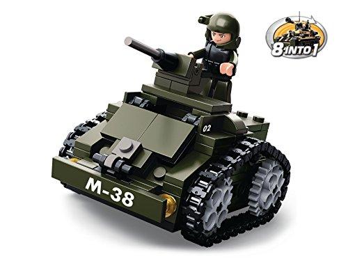 Funstones - Baustein Set Army Armee - Soldat + Panzerwagen Panzer Auto Kampf Spielzeug