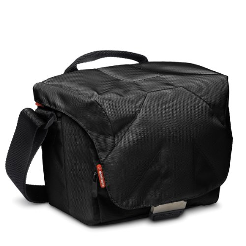 Manfrotto Stile Kollektion Bella IV Schultertasche (für DSLR mit 18-105mm Objektiv, 1 zusätzliches Blitzgerät, Zubehör) schwarz