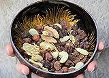 Batriozo Einzigartige Kokosnussschale – Gold – Hochwertige Dekoschale – 100% Handgemacht und Umweltfreundlich – Vielseitig Einsetzbar – Coconut Bowl - 4