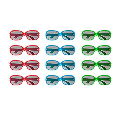 Super Z Outlet Sonnenbrille, Kunststoff,, rund, 12 Paar