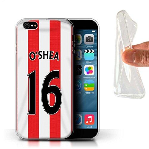 Offiziell Sunderland AFC Hülle / Gel TPU Case für Apple iPhone 6+/Plus 5.5 / Pack 24pcs Muster / SAFC Trikot Home 15/16 Kollektion O'Shea