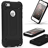Urcover Coque Armor Protection Steel Series Hybrid | Apple iPhone Se / 5 / 5s | Noir...