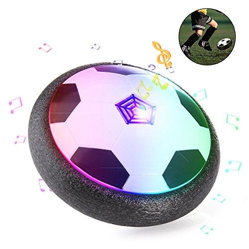 ZWOOS Air Hover Ball Calcio da Interno con Musica e LED, Pallone da Calcio Fluttuante per Giocare in Casa Giocattoli (Batterie non incluse)