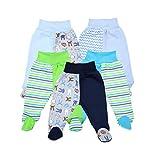 TupTam Unisex Baby Hose mit Fuß Bunte Strampelhose 5er Pack, Farbe: Junge, Größe: 80