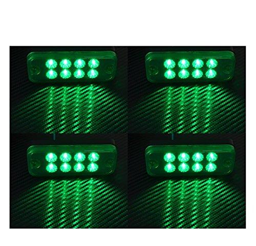 4 X 12V 8 SMD LED VERT FEUX DE GABARIT/POSITION CAMION SHASSIS REMORQUE FOURGON