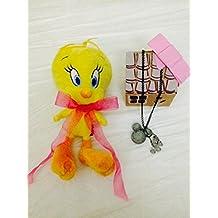 Cojín Peluche Piolín Tweety Looney Tunes + collar Mickey Disney + Pack caja regalo–Black Friday Deals