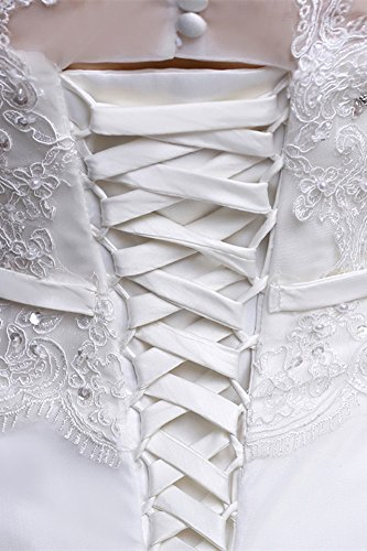 Süße Princess Bride Wort Schulter Spitze Schlank war dünn Qi Brautkleid Weiß