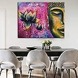 Wieoc Wandbilder Leinwandbilder Pop Art Leinwandbilder Auf Der Wand Lotus Poster Und Drucke Bild Wanddekoration 60X80Cm