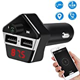GPS Tracker Car, Zarsson GPS Tracker Auto Ladegerät Autoradio Bluetooth FM Transmitter, Wireless In-auto Radio Adapter Car Kit mit Auto Finder GPS Tracking, MP3-Player Stereo, Unterstützt TF / SD-Karte, U-Disk