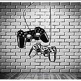 Wsxwga Joystick Extraíble Tatuajes De Pared Gamer Videojuego Sala De Juegos Niños Pegatinas De Vinilo Arte De La Pared Del Tatuaje Para Adolescentes Dormitorios Mural 57 * 100 Cm