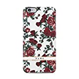 Personalized Customizable First And Last Name Iniziale Text Custom Vintage Wild Rosso Roses Custodia Protettiva in Plastica Rigida Case Cover Compatible with iPhone 6 / iPhone 6s Case