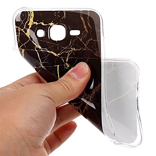 Fubaobao, custodia con design marmo per Huawei P8Lite, materiale poliuretano termoplastico con protezione ultrasottile su tutto il perimetro, verde chiaro F9