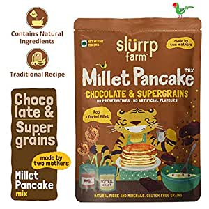 Slurrp Farm Instant Breakfast Millet Pancake Mix | Chocolate| Natural and Healthy food, 150gm