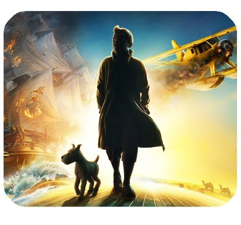 """The Adventures Of Tintin The Secret Of The Unicorn Mousepad Personalized Custom Mouse Pad Oblong Shaped In 9.84\""""X7.87\"""" Gaming Mouse Pad/Mat"""