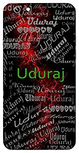 Uduraj (Lord Of Stars) Name & Sign Printed All over customize & Personalized!! Protective back cover for your Smart Phone : Moto G-4-PLAY