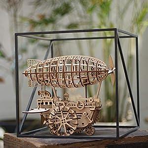 ROKR 3D Juegos de Rompecabezas de Madera con artesanía láser Cortada con Engranaje Modelo mecánico Juguetes de vehículo para Adultos niños 14 15 16 años de Edad y Superior
