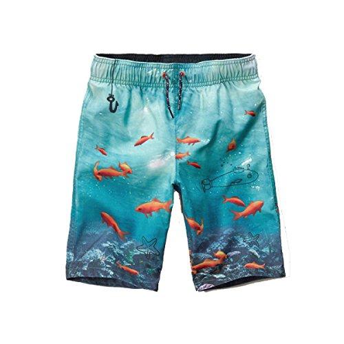 2 Pack Hommes Quick Dry Plage été Décontracté Détendu Impression Swim Trunk Tailles Et Couleurs Assorties M