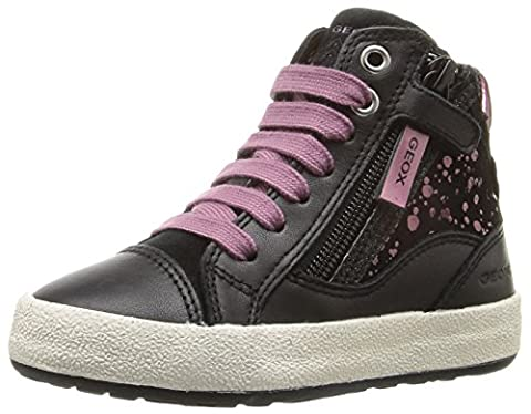 Geox Mädchen JR Witty B High-Top, Schwarz (Black/PURPLEC0037), 36 EU