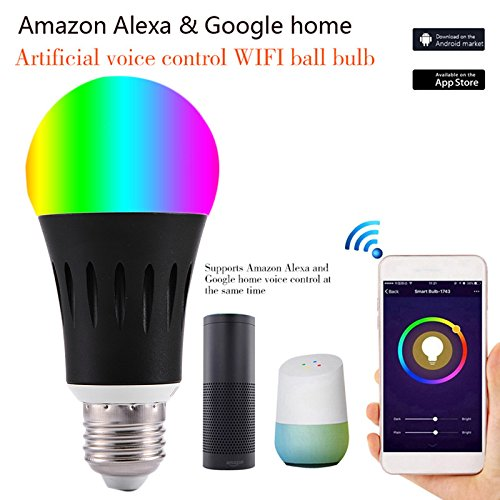 ZREAL E27/E14/B22 Smart Wifi Steuerung Colorful LED Leuchtmittel für Google Home Amazon Alexa