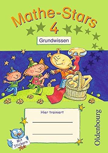 Mathe-Stars - Grundwissen: 4. Schuljahr - Übungsheft: Mit Lösungen (4 Lösung)